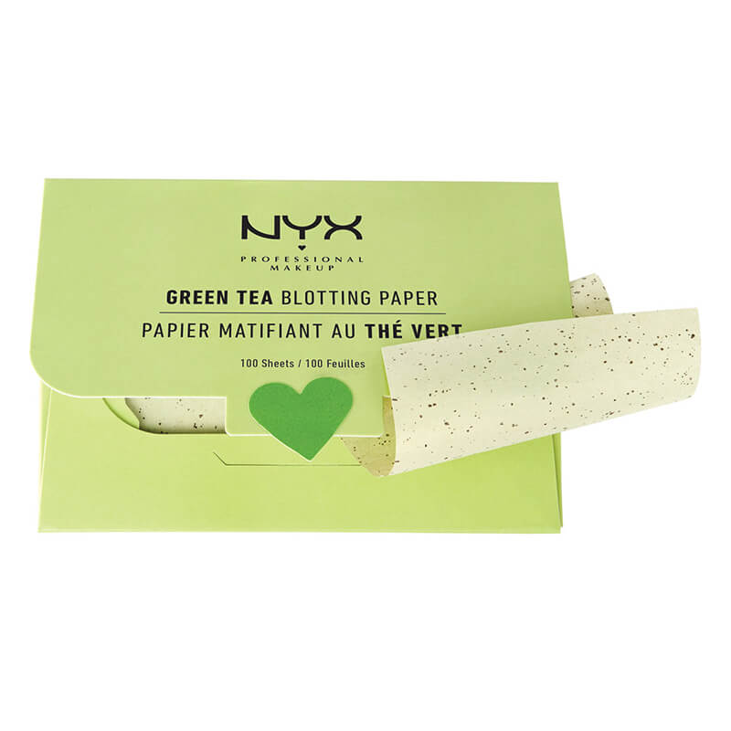 NYX Green Tea Blotting Paper i gruppen Makeup / Base / Blotting papers hos Bangerhead.no (bprgt)
