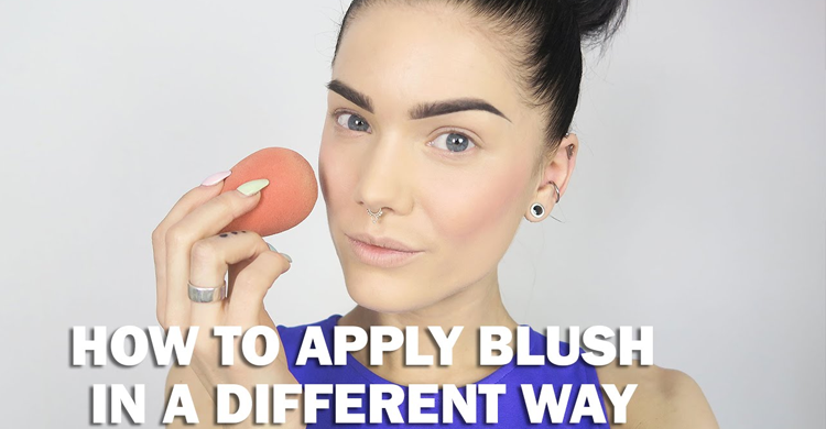 How To Apply Blush In A Different Way