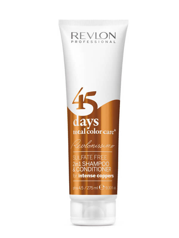 Revlon Professional 45 Days Sampoo And Conditioner Intense Coppers (275ml) i gruppen Hårpleie / Hårfarge / Fargemasker hos Bangerhead.no (B009114)