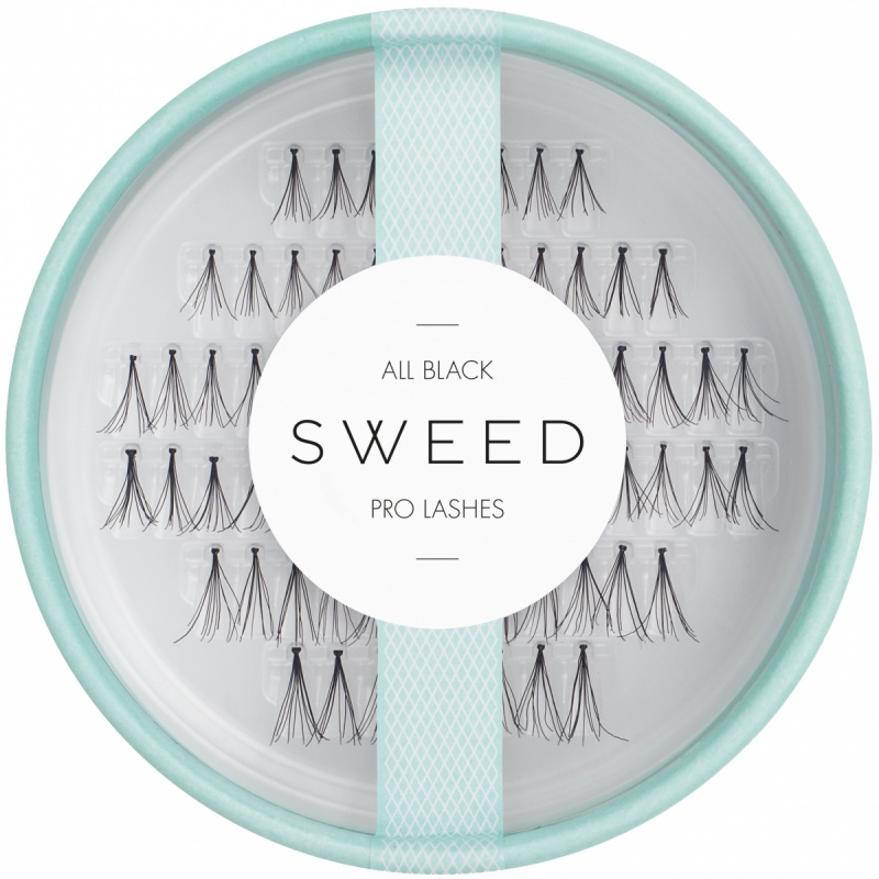 Sweed Lashes All Black i gruppen Makeup / Øyne / Løsvipper hos Bangerhead.no (B017347)